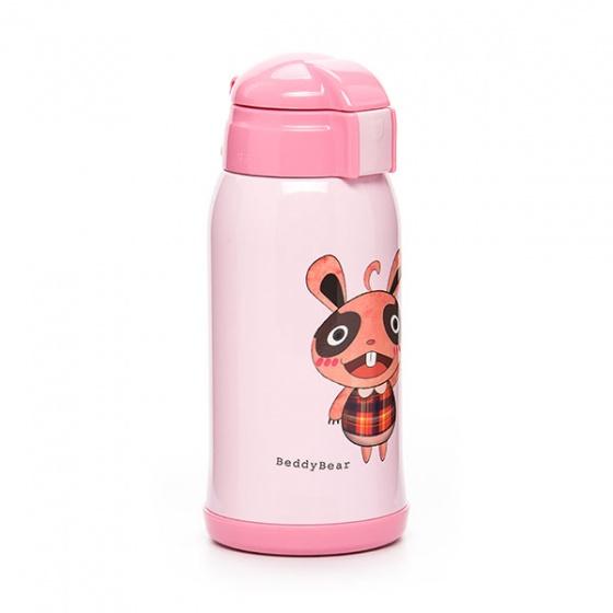 Bình giữ nhiệt BeddyBear 630ml hồng họa tiết con thỏ RT101-630 THO
