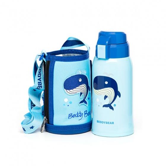 Bình giữ nhiệt BeddyBear 600ml xanh dương-họa tiết cá voi RT103-600-CAVOI