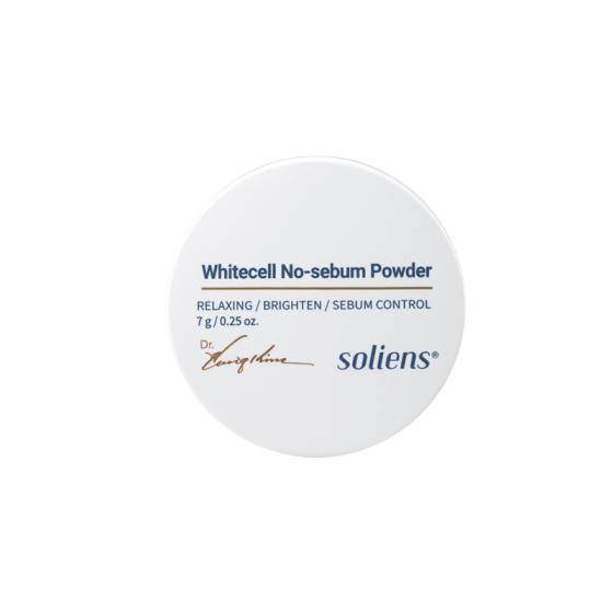 Phấn phủ kiềm dầu lám trắng da Whitecell No-sebum  Soliens Whitecell No-sebum Powder