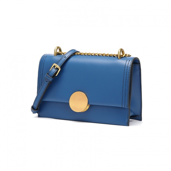 Túi xách da thật F61 - xanh coban - B09F61
