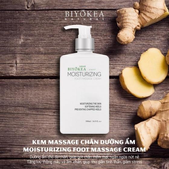 Kem massage chân Biyokea - 500ml [QC-Vneshop]