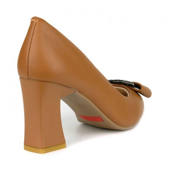 Giày cao gót êm chân Sunday CG43 nâu bò
