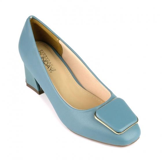 Giày cao gót êm chân Sunday CG44 xanh dương