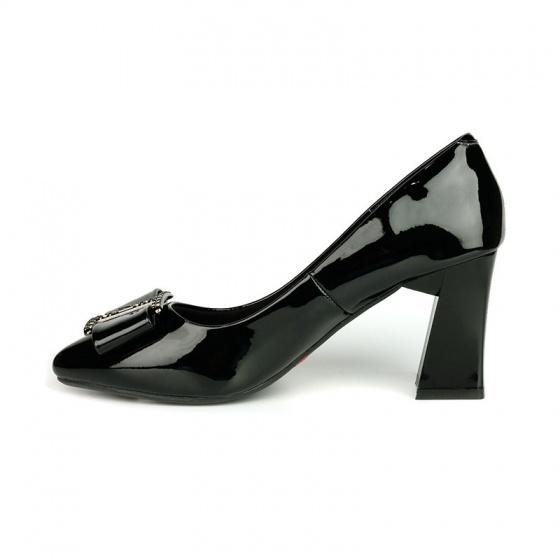 Giày cao gót êm chân Sunday CG43 đen bóng