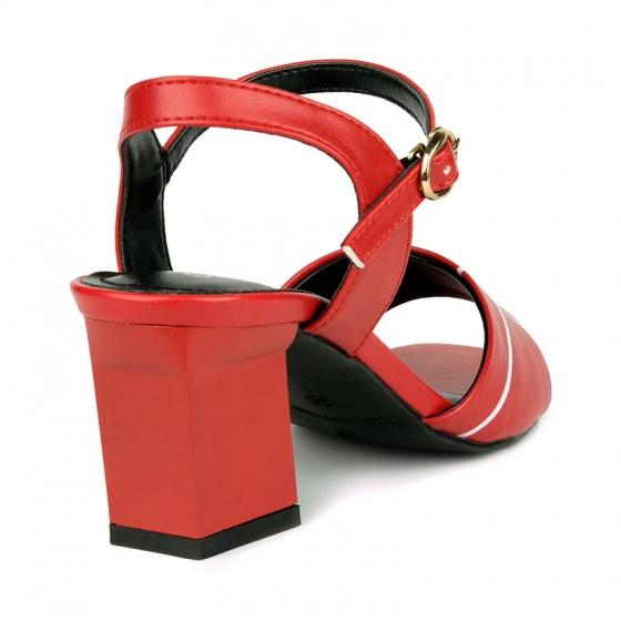 Sandal đế vuông êm chân Sunday DV58 đỏ
