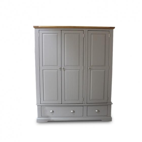 Tủ quần áo gỗ sồi cao cấp Furnist Charming Grey