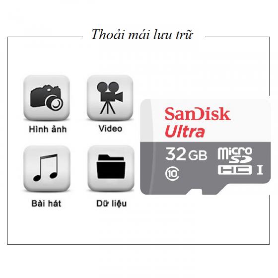 Thẻ nhớ Sandisk ultra micro SDHC 32GB C10