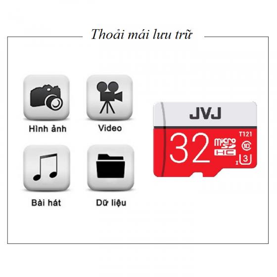 Thẻ nhớ JVJ Micro SDHC Pro 32G C10 – thẻ nhớ chuyên dụng cho camera