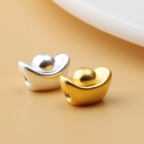 Charm bạc mạ vàng hình nén vàng