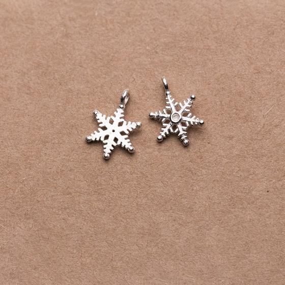 Charm bạc hình bông tuyết treo - bạc thái