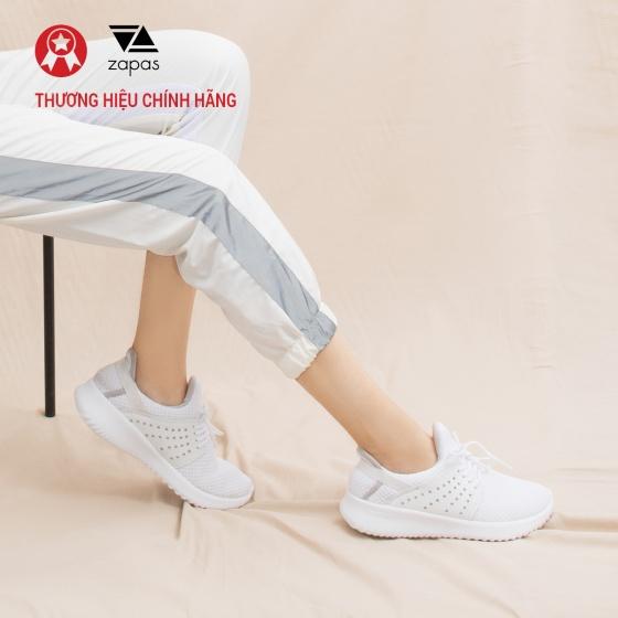 Giày nữ, giày thể thao sneaker Zapas năng động cá tính siêu nhẹ thoáng khí - ZR013 (màu đen)
