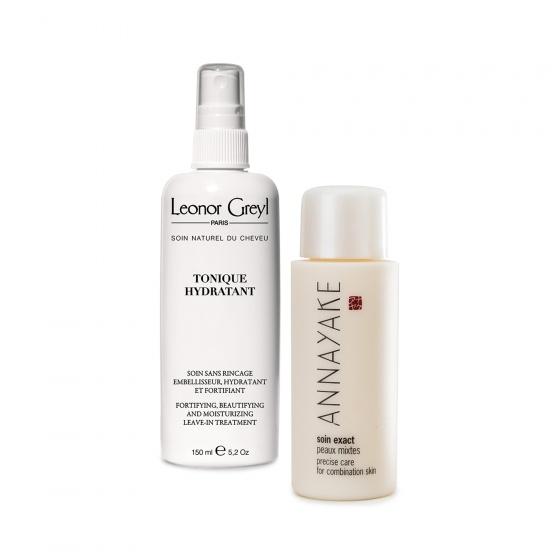 Combo sữa dưỡng dành cho da hỗn hợp Annayake  và tonique tăng độ ẩm và bảo vệ tóc Leonor greyl