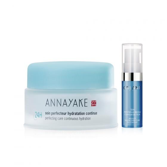 Kem dưỡng da cung cấp độ ẩm liên tục trong 24 h Annayake tặng kem dưỡng Mini Orlane Eye Safa