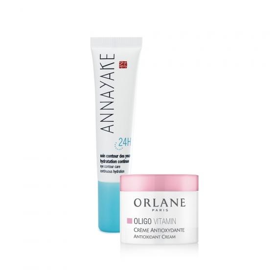 Kem dưỡng da vùng mắt trong 24h Annayake tặng kem dưỡng Mini Orlane Oligo chuyên dùng cho da đang nhạy cảm