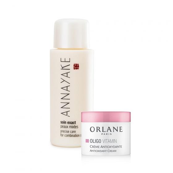 Sữa dưỡng dành cho da hỗn hợp Annayake tặng kem dưỡng Mini Orlane Oligo chuyên dùng cho da đang nhạy cảm, rất mỏng