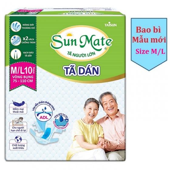Combo 8 gói tã người lớn Sunmate size ML10