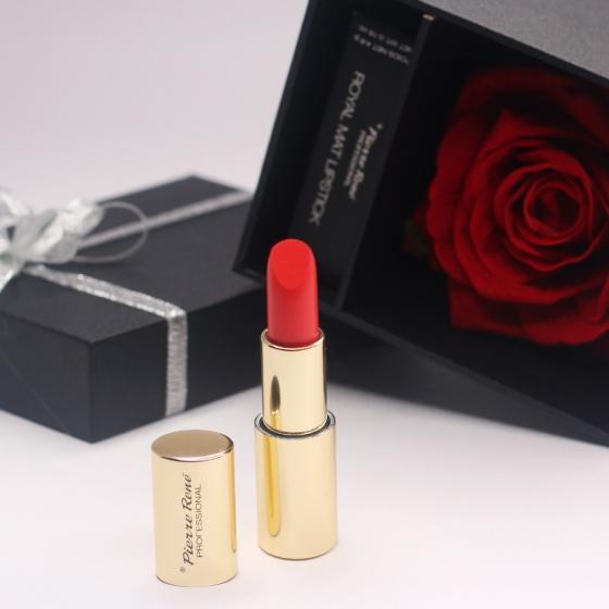Hộp hoa hồng đựng son môi cao cấp Royall Matte Lipstick