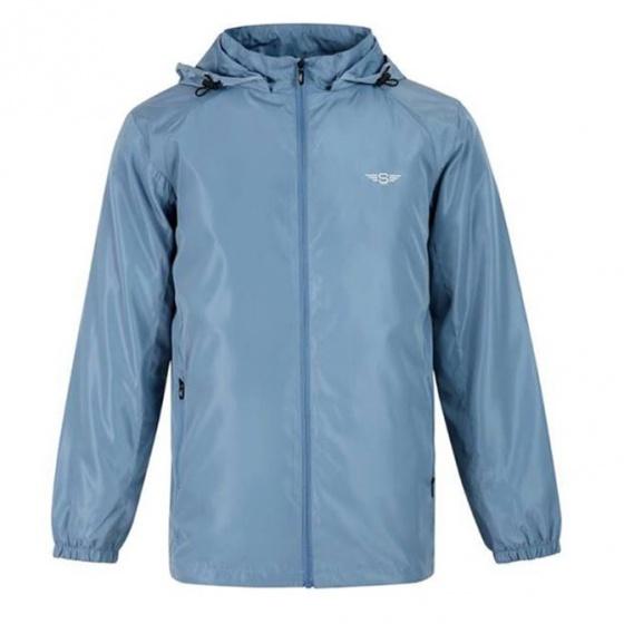 Áo gió nam có mũ 2 lớp cao cấp StandardMen SAG01 - xanh