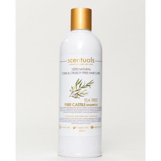 Dầu gội nguyên chất tràm trà - Scentuals Pure Castile Tea Tree Shampoo 500ml