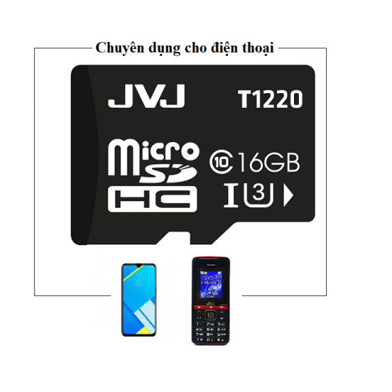 Thẻ nhớ JVJ 16G C10 - thẻ nhớ tốc độ cao