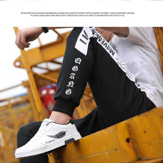 Giày thể thao nam da mềm đế đúc cao su hình lá thời trang