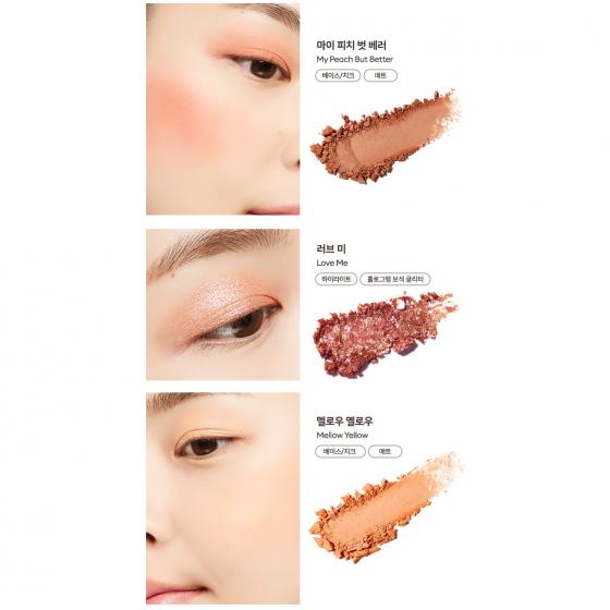 Bảng phấn mắt má hồng tạo khối Missha Glow 2 Color Filter Shadow Palette 11.5g - 08 Coral Love Me