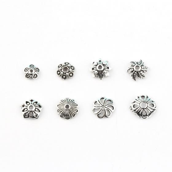 Charm chụp hạt, bọc hạt họa tiết hoa văn kích thước 7.6mm
