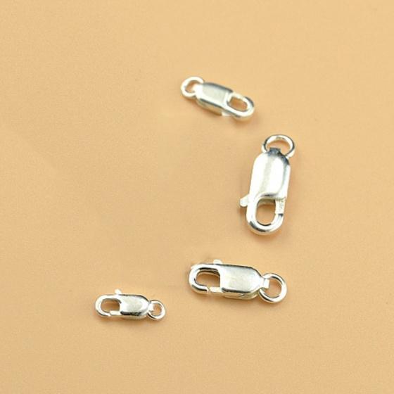 Charm bạc móc khóa kết vòng tay, dây chuỗi 8mm