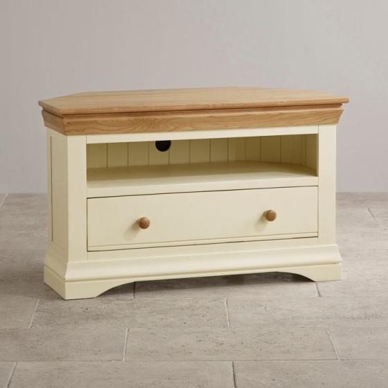 Tủ tivi góc Canary gỗ sồi - Cozino