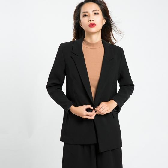 Áo khoác blazer Hity TOP085 (đen huyền bí)