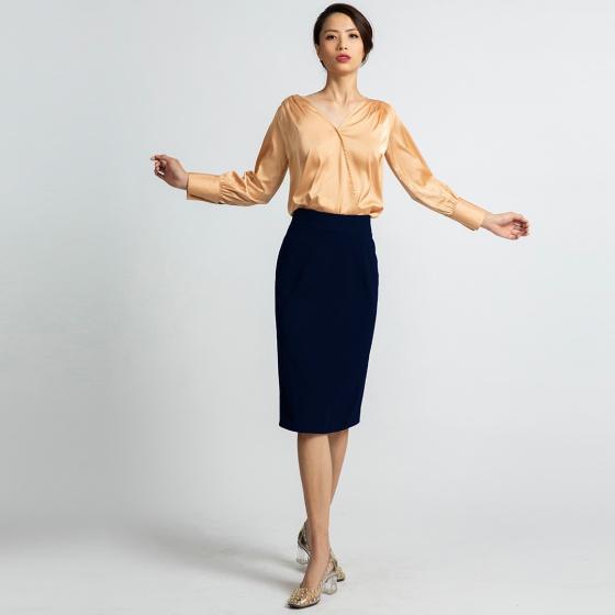 Váy bút chì Hity SKI031 (xanh thủy thủ)
