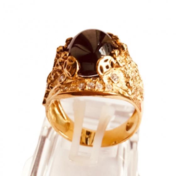 Nhẫn nam đá thạch anh mạ vàng 18k - RM01061