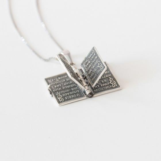 Charm bạc mặt dây chuyền kinh thánh treo