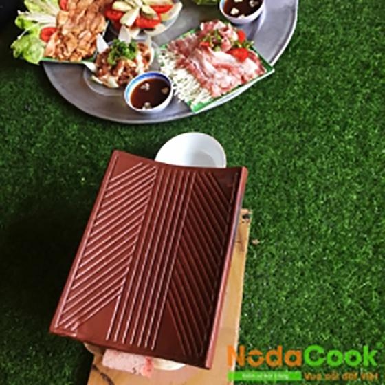 Combo 5 ngói nướng thịt NodaCook có rãnh thoát mỡ
