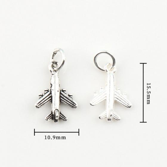 Charm bạc máy bay treo (bạc thái)