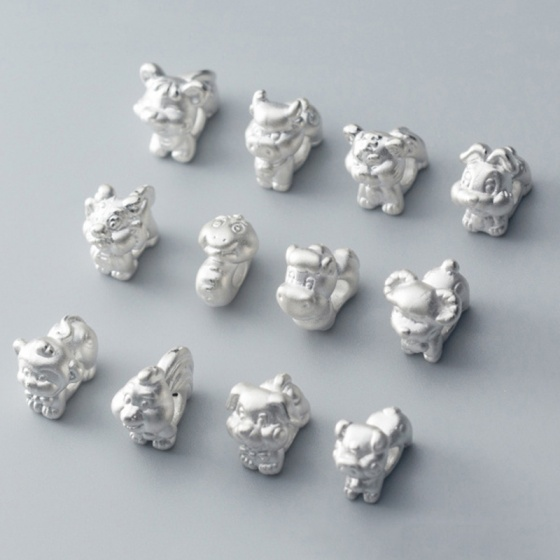 Charm bạc 12 con giáp xỏ ngang - tuổi mão