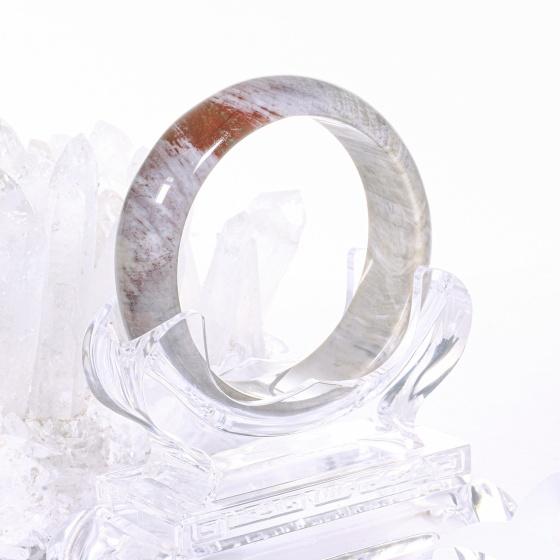 Vòng tay gỗ hóa thạch bản hẹ ni 57 mệnh hỏa, mộc - Ngọc Quý Gemstones
