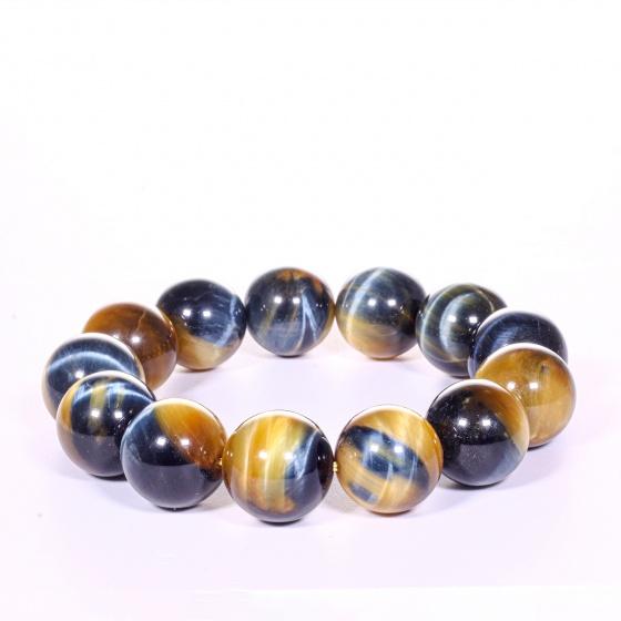 Vòng tay nam đá thạch anh mắt ưng AAA 18mm mệnh thủy, mộc - Ngọc Quý Gemstones