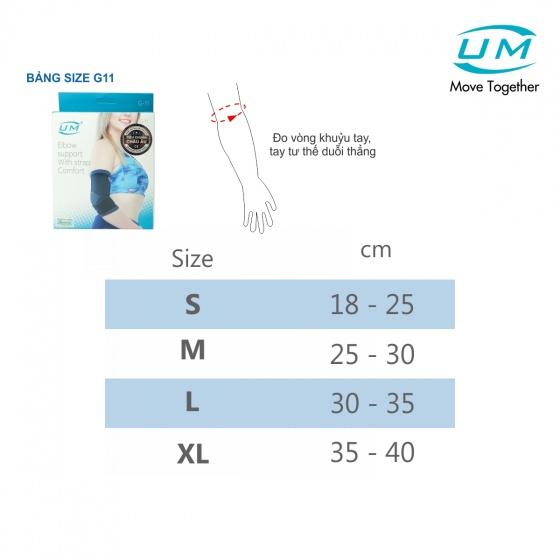 Bó khuỷu tay có đai dán United Medicare (G11), size XL