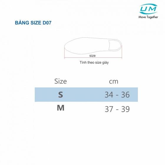 Nẹp chân nhựa poly propylene United Medicare (D07), size M