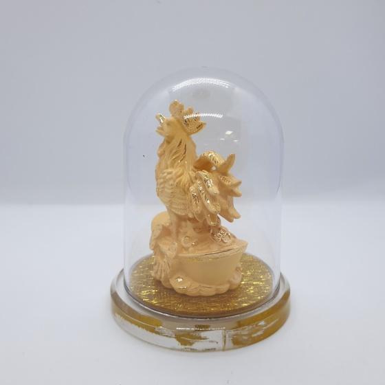 Kim Giáp Dậu - quà tặng mỹ nghệ Kim Bảo Phúc phủ vàng 24k DOJI