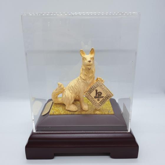 Kim Tuất Phát Lộc - quà tặng mỹ nghệ Kim Bảo Phúc phủ vàng 24k DOJI