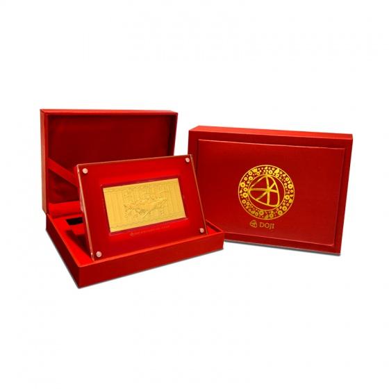 Quà tặng mỹ nghệ KBP DOJI Lì xì mã đáo phủ vàng 24K