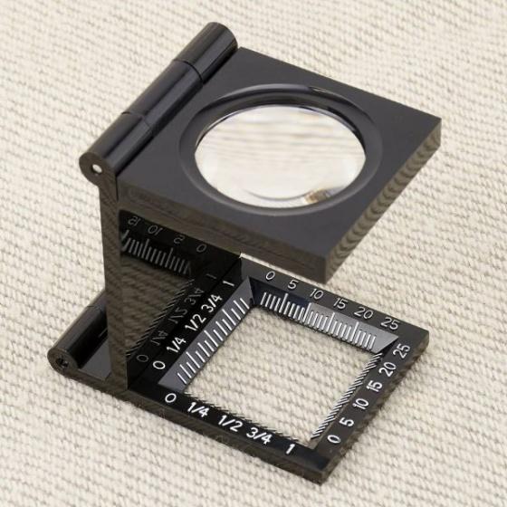 Kính lúp kiểm tra sợi vải có thước đo Carson LT-30 (5x) - hàng chính hãng