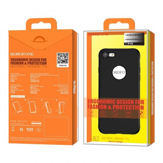 Ốp lưng Iphone Borofone 7-8 BI2 đen