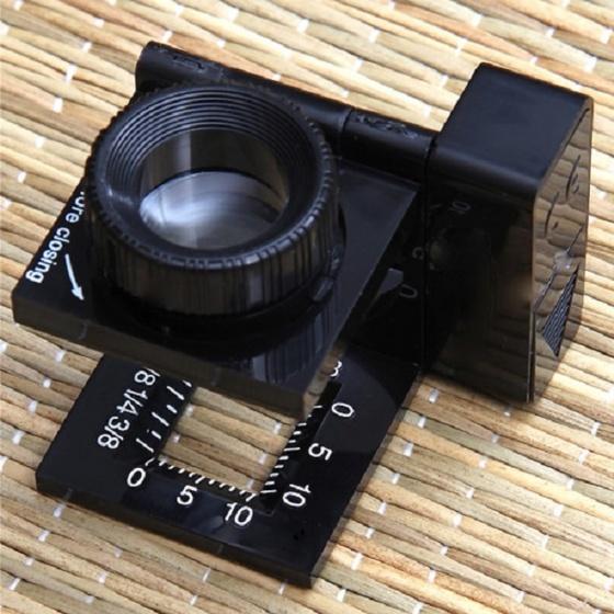 Kính lúp mini soi vải có thước đo Carson 11.5x (có đèn) - hàng chính hãng