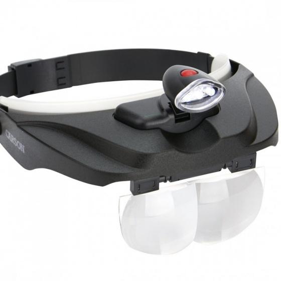 Kính lúp choàng đầu có đèn Carson MagniVisor CP-60 (1.5x, 2x, 2.5x, 3x) - hàng chính hãng