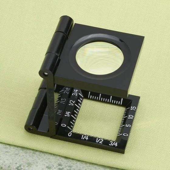 Kính lúp kiểm tra sợi vải có thước đo Carson 6.5x LT-20 - hàng chính hãng