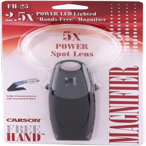 Kính lúp có đèn Led Carson FH-25 FreeHand 2.5x(5.5x) - hàng chính hãng