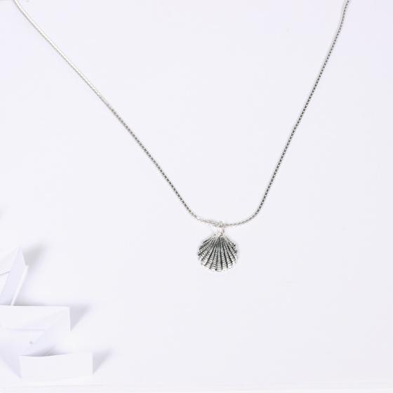 Dây chuyền bạc mặt hình vỏ sò